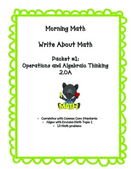 Morning Math: Operations and Algebraic Thinking
