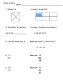 Morning Math Review