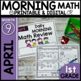 Morning Work First Grade Math | April | Printable Packet D