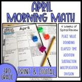 Grade 3 Morning Math Review: April