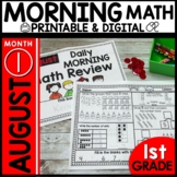Morning Work First Grade Math | August