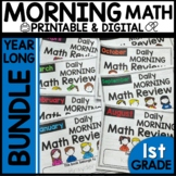 Morning Work First Grade Math | YEAR BUNDLE