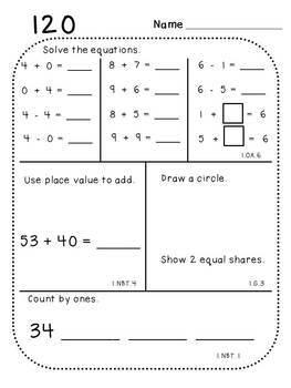 First Grade Daily Math (6 Pack Bundle)