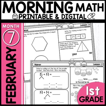 Morning Work First Grade |February