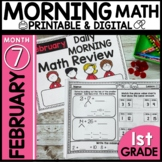 Morning Work First Grade February Printable Digital Resour