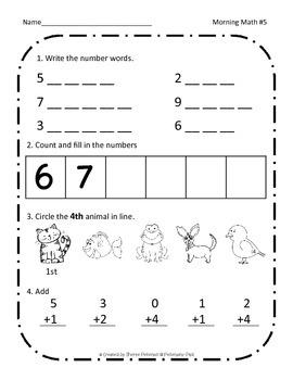 Morning Math Review {First Grade}
