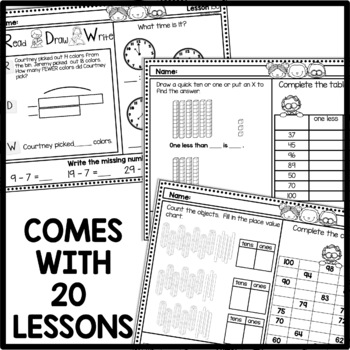 Morning Work First Grade Math   March   DISTANCE LEARNING MATH WORKSHEETS