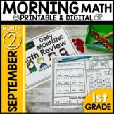 Morning Work First Grade Math | September