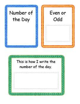 Morning Math Routine Headers for Math Meeting or Calendar Time