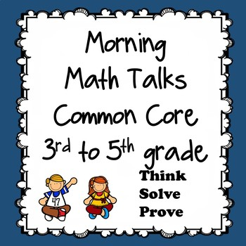 Morning Math Talks 3rd or multi-level groups