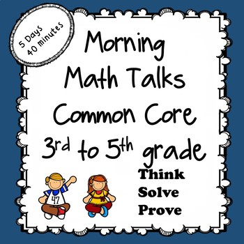Common core Morning Math Talks 3rd / multi-level 5 days