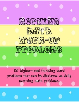 Morning Math Warm-Up Problems - problem solving