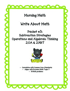 Morning Math Work Problems: Subtraction Strategies *Common Core Aligned*