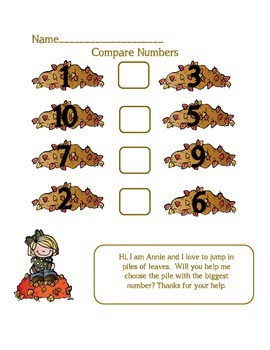 Morning Math Worksheets with a November Theme