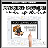 Morning Math and Movement Slides | Distance Learning