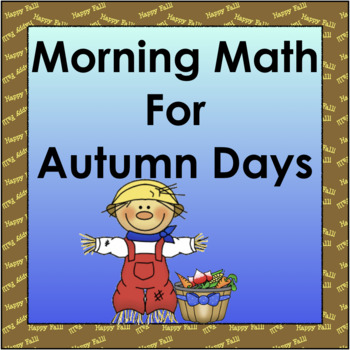 Morning Math for Autumn Days