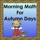 Morning Math for Autumn Days