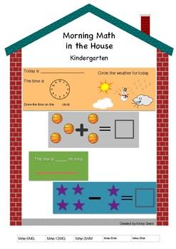 Morning Math in the House Kindergarten