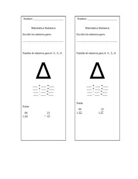 Morning Math/Matematica Mañanera