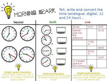 Morning Maths Activities - Year 3/4 (Fully Editable)