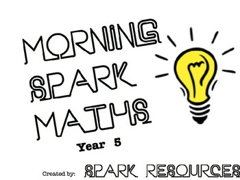 Morning Maths Activities - Year 5 (Fully Editable)