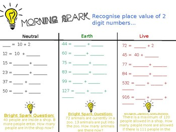 Morning Maths Starters - Year 2 (FREE TRIAL)