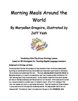 Morning Meals Around the World Vocabulary Activity and Materials