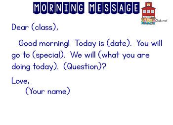 Morning Meeting Notebook
