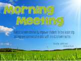 Morning Meeting {A Routine to Build Classroom Community}