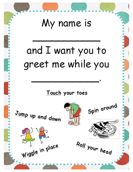 Morning Meeting Active Greeting Card
