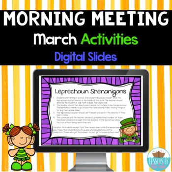 Morning Meeting Activities Digital Slides- March