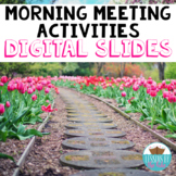 Morning Meeting Activities Digital Whiteboard Slides (Photographs)