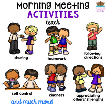 Morning Meeting Activities & Games ULTIMATE BUNDLE