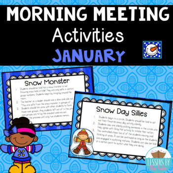 Morning Meeting Activities~ January Winter Edition