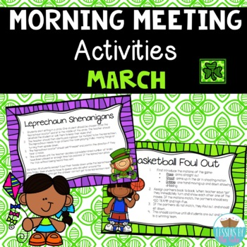 Morning Meeting Activities ~ March themed