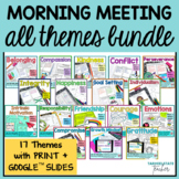 Morning Meeting Theme Sets and Activities for Upper Elemen