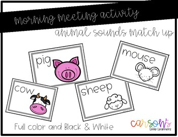 Morning Meeting Activity - Animal Sounds