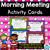 Morning Meeting Activities Printable Cards