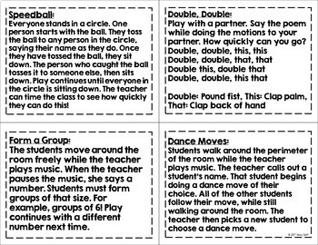 Morning Meeting Activity Cards 2nd Grade