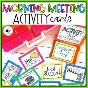 Morning Meeting Activity Cards- Editable