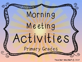 Morning Meeting Activity Cards- Lower Elementary Edition!