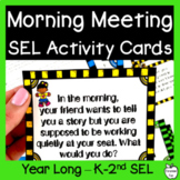 Morning Meeting Activity Cards ~ EDITABLE! ~ Social Skills & Community Building