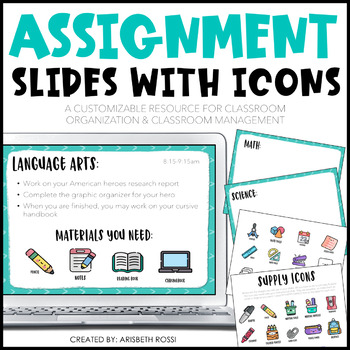 Morning Meeting | Assignment Instruction Slides with Icons | Distance Learning