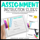 Morning Meeting | Assignment Instruction Slides for Google Drive™