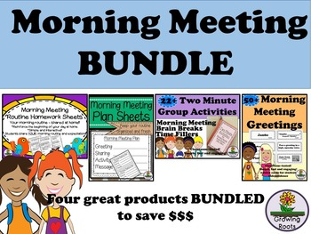 Morning Meeting BUNDLE Greetings, Activities, Planning and