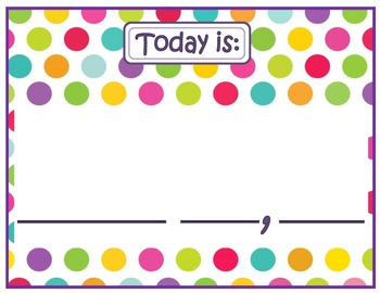 Morning Meeting Board Printables