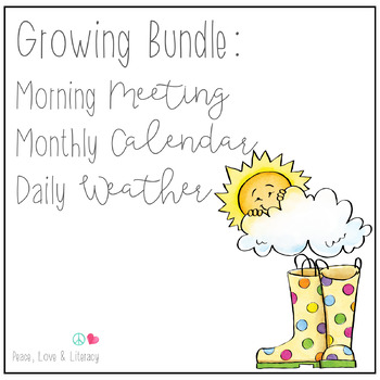 Morning Meeting Bundle - Daily Routines for Meeting, Calendar, & Weather