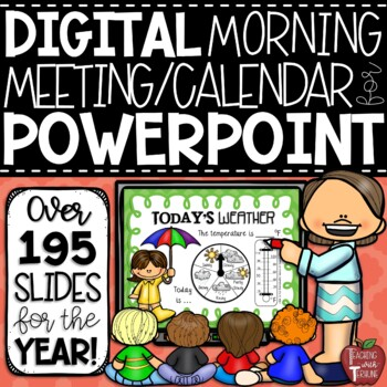 Morning Meeting Calendar Math Lessons for the Smartboard {in PowerPoint}