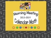Morning Meeting - Calendar Math 2013-2014