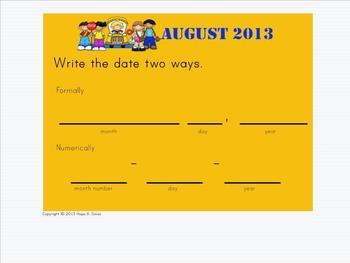 Morning Meeting - Calendar Math 2013-2014